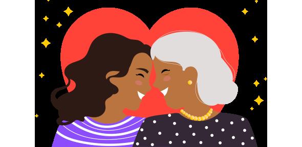Mãe e filha se abraçando e aproveitando as promoções da All iN sobre o que fazer para vender no Dia das Mães.