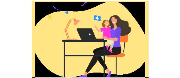 Mãe e filha fazendo compras online com quem sabe o que fazer para vender no Dia das Mães.