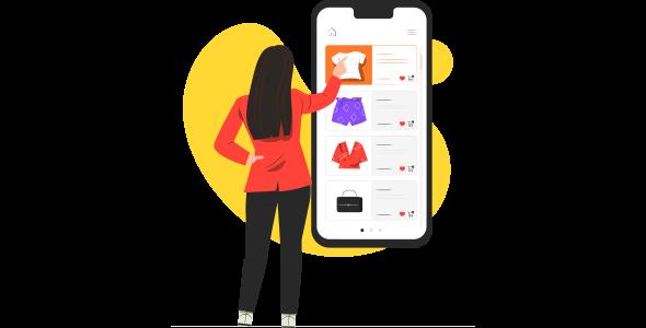 Mulher fazendo compras de roupa pelo celular na black friday 2021.