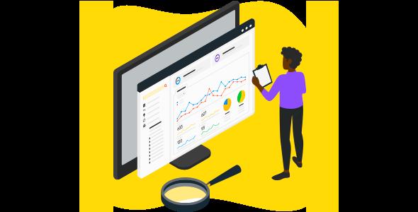 Pessoa avaliando os dados da empresa por meio de gráficos gerados pela DMP.