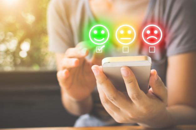 Usuário indicando satisfação em relação a marca