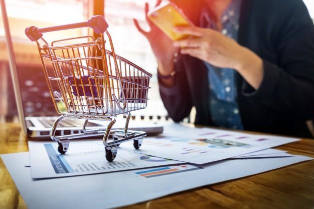 Carrinho de compra de e-commerce