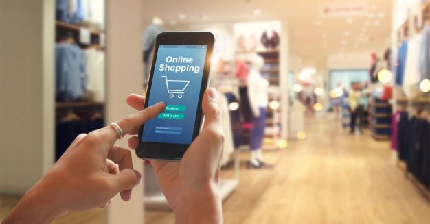 Comprando online pelo celular