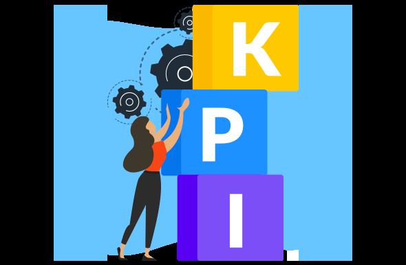 Mulher organizando os KPI's para compreender o valor de marca da empresa.
